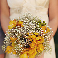 Flowers & Decor, Real Weddings, Wedding Style, yellow, Bride Bouquets, Beach Real Weddings, Summer Weddings, West Coast Real Weddings, Summer Real Weddings, Beach Weddings, Summer Wedding Flowers & Decor, Babys breath