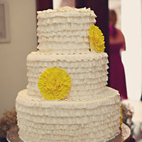 Cakes, Real Weddings, Wedding Style, white, yellow, Wedding Cakes, Beach Real Weddings, Summer Weddings, West Coast Real Weddings, Summer Real Weddings, Beach Weddings