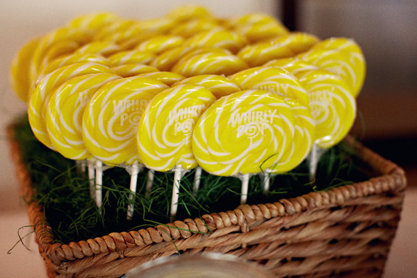 Cakes, Real Weddings, Wedding Style, yellow, Other Wedding Desserts, Beach Real Weddings, Summer Weddings, West Coast Real Weddings, Summer Real Weddings, Beach Weddings, Lollipops