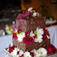 Cakes, Destinations, Real Weddings, Wedding Style, brown, Off the Beaten Path, Floral Wedding Cakes, Square Wedding Cakes, Wedding Cakes, Fall Weddings, Fall Real Weddings, Canada, same sex weddings, Same Sex Real Weddings, chocolate wedding cakes