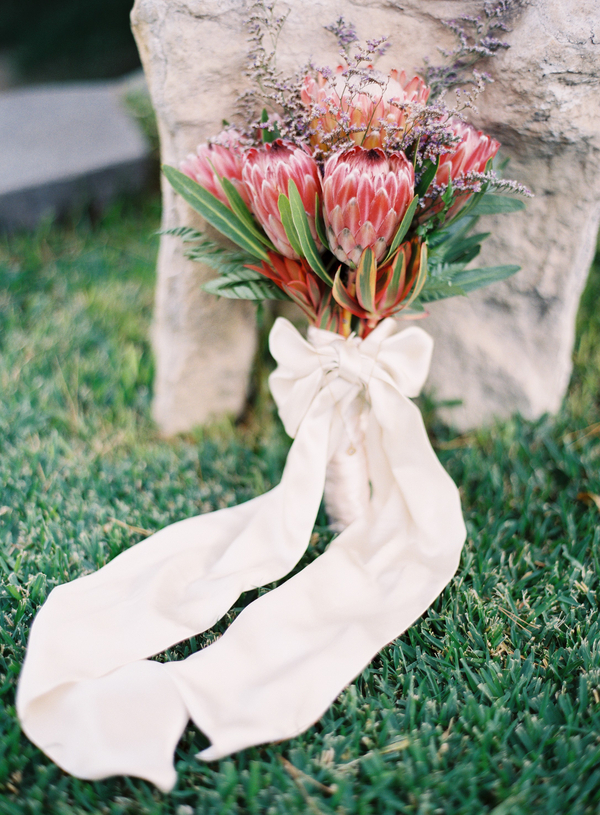Flowers & Decor, Real Weddings, Wedding Style, Bride Bouquets, Beach Real Weddings, Beach Weddings, Modern Weddings, Rustic Weddings, Beach Wedding Flowers & Decor, Modern Wedding Flowers & Decor, Rustic Wedding Flowers & Decor, bridal bouquet, Proteas