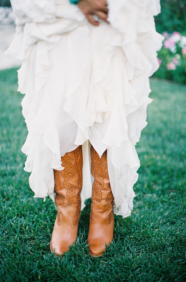 Shoes, Real wedding, Cowboy boots