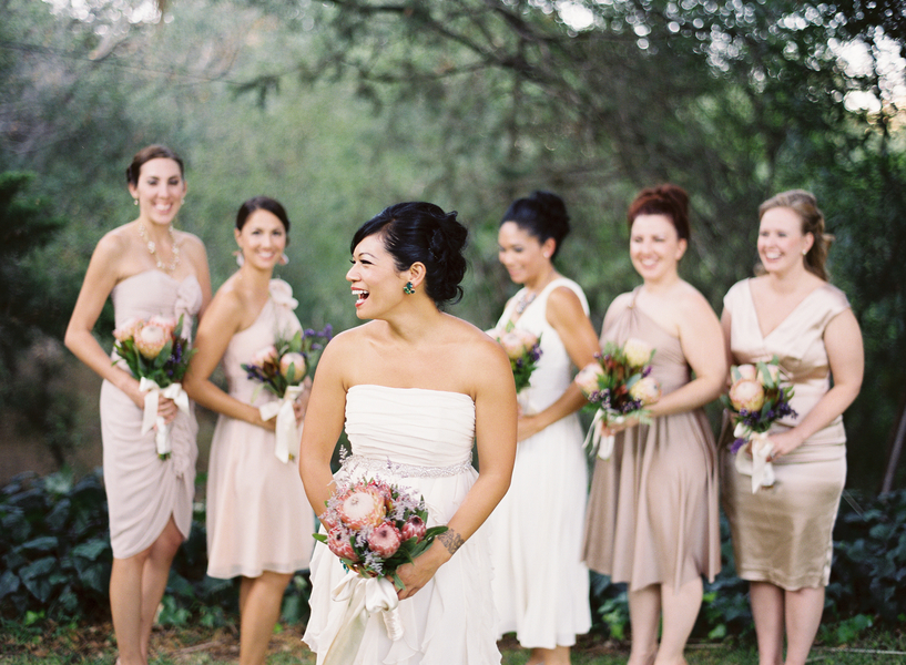 Beauty, Bridesmaids, Real Weddings, Makeup, Updo, Bridal party, Laughter, Real wedding