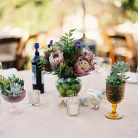 Flowers & Decor, Real Weddings, Wedding Style, green, Centerpieces, Summer, Rustic Real Weddings, Summer Weddings, Summer Real Weddings, Rustic Weddings, Limes, Succulents, Fresh, Real wedding, Proteas
