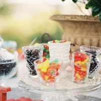 Real Weddings, red, Dessert, Candy buffet, gummy candy