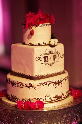 Cakes, Real Weddings, Wedding Style, red, Square Wedding Cakes, Wedding Cakes, Spring Weddings, Glam Real Weddings, Spring Real Weddings, Glam Weddings, romantic wedding cakes