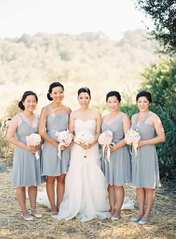 Bridesmaid Dresses, Fashion, Wedding Style, gray, West Coast Real Weddings, Shabby Chic Real Weddings, Shabby Chic Weddings, real wedidngs