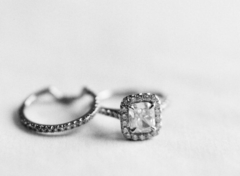 Jewelry, Wedding Style, Wedding Bands, West Coast Real Weddings, Shabby Chic Real Weddings, Shabby Chic Weddings, real wedidngs, cushion cut engagement rings