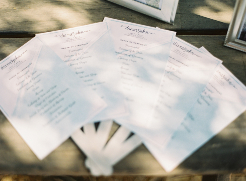 Stationery, Wedding Style, Ceremony Programs, West Coast Real Weddings, Shabby Chic Real Weddings, Shabby Chic Weddings, real wedidngs