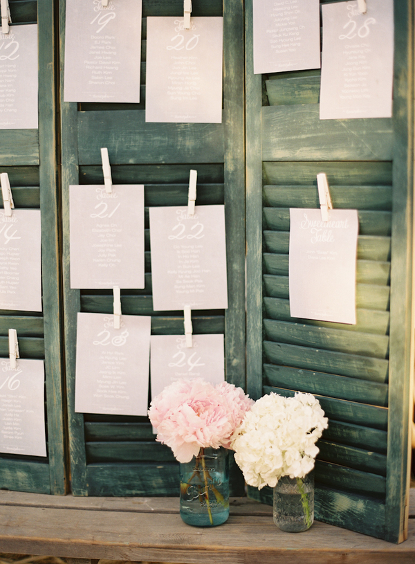 Flowers & Decor, Stationery, Wedding Style, Escort Cards, West Coast Real Weddings, Shabby Chic Real Weddings, Shabby Chic Weddings, Rustic Wedding Flowers & Decor, Vintage Wedding Flowers & Decor, real wedidngs