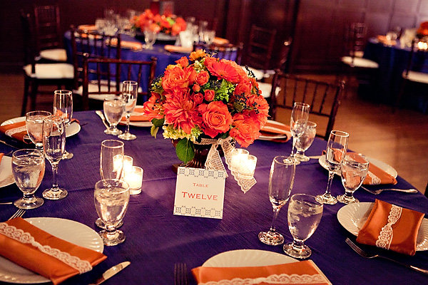 orange, purple, Fall Weddings, Fall Real Weddings