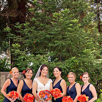 Flowers & Decor, Real Weddings, Wedding Style, orange, purple, Bridesmaid Bouquets, Fall Weddings, Fall Real Weddings