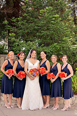 Flowers & Decor, Real Weddings, Wedding Style, orange, purple, Bridesmaid Bouquets, Fall Weddings, Fall Real Weddings, California weddings, california real weddings