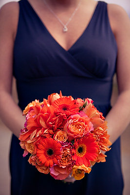 Flowers & Decor, Real Weddings, Wedding Style, orange, purple, Bridesmaid Bouquets, Fall Weddings, Fall Real Weddings, Beach Wedding Flowers & Decor, Fall Wedding Flowers & Decor, Spring Wedding Flowers & Decor