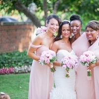 Bridesmaids, Real Weddings, pink, Classic Real Weddings, Classic Weddings, Bridesmaids bouquets, East Coast Real Weddings, East Coast Weddings, Romantic Real Weddings, Romantic Weddings