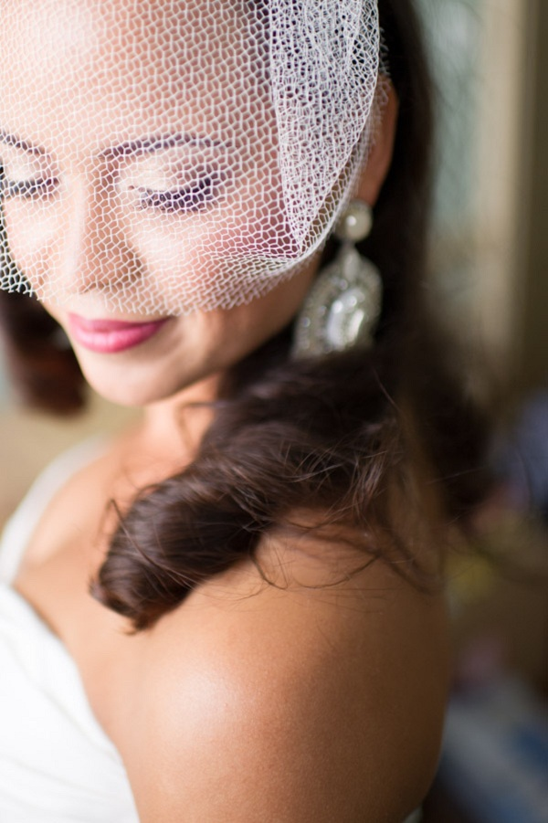 Beauty, Veils, Fashion, Real Weddings, Wedding Style, Makeup, Classic Real Weddings, Classic Weddings, Birdcage veil, East Coast Real Weddings, East Coast Weddings, Romantic Real Weddings, Romantic Weddings