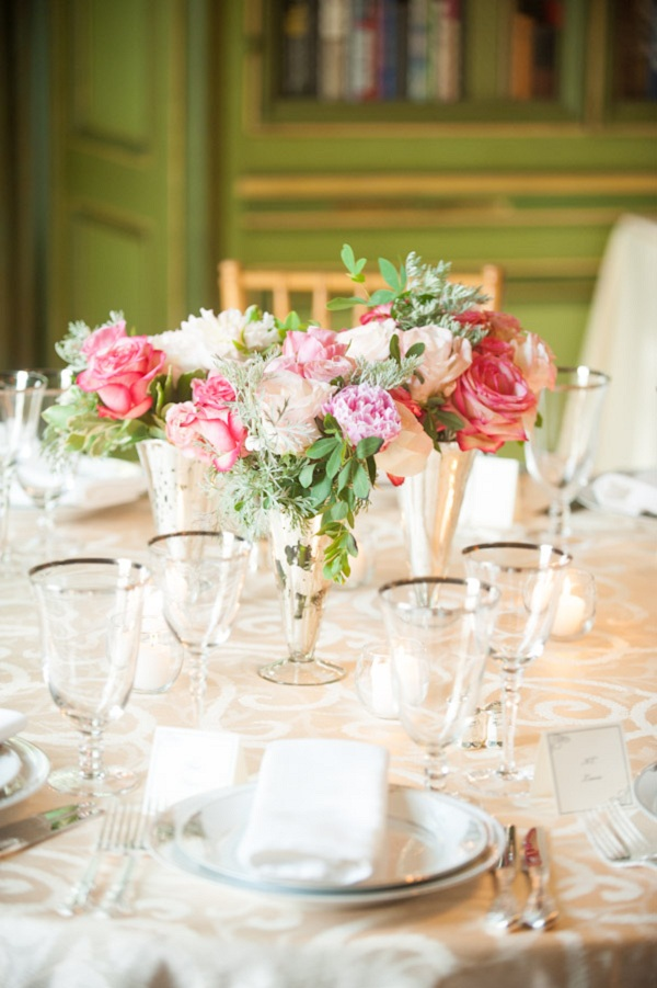 Flowers & Decor, Real Weddings, pink, Centerpieces, Classic Real Weddings, Classic Weddings, Classic Wedding Flowers & Decor, Spring Wedding Flowers & Decor, East Coast Real Weddings, East Coast Weddings, Romantic Real Weddings, Romantic Weddings