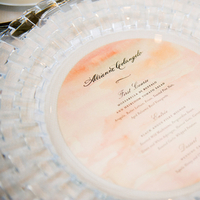 Stationery, Real Weddings, Wedding Style, pink, Round, Menu Cards, Modern Real Weddings, Spring Weddings, Spring Real Weddings, Modern Weddings, East Coast Real Weddings, East Coast Weddings