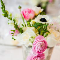 Flowers & Decor, Real Weddings, Wedding Style, ivory, pink, Centerpieces, Spring Weddings, Spring Real Weddings, Modern Weddings, Spring Wedding Flowers & Decor, Poppies, Ranunculus, East Coast Real Weddings, East Coast Weddings