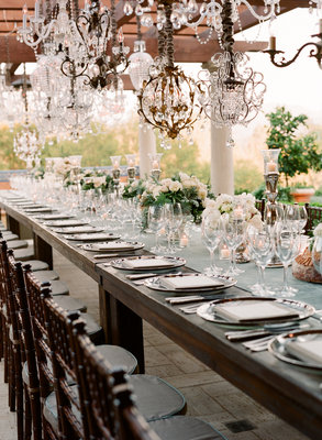 Flowers & Decor, Real Weddings, Wedding Style, ivory, blue, green, brown, silver, Lighting, Summer Weddings, West Coast Real Weddings, Summer Real Weddings, Vintage Real Weddings, Vintage Weddings, Glam Wedding Flowers & Decor, Vintage Wedding Flowers & Decor, Table settings, Tables & Seatings