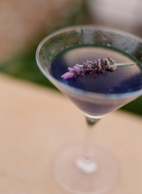 A Lavendergarnished Martini Photos By Little White Dress