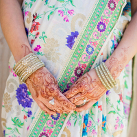 Jewelry, Real Weddings, Wedding Style, Bracelets, Modern Real Weddings, Summer Weddings, West Coast Real Weddings, Summer Real Weddings, Modern Weddings, Colorful, Henna, Sari, Vibrant, Indian wedding, Jewish wedding, West Coast Weddings, Multicultural Real Weddings, Multicultural Weddings, Indian Real Wedding, Jewish Real Wedding