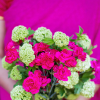 Flowers & Decor, Real Weddings, Wedding Style, pink, Modern Real Weddings, Summer Weddings, West Coast Real Weddings, Summer Real Weddings, Modern Weddings, Colorful, Bouquets, Carnations, Fuchsia, Vibrant, Indian wedding, Jewish wedding, West Coast Weddings, Multicultural Weddings, Indian Real Wedding, Jewish Real Wedding