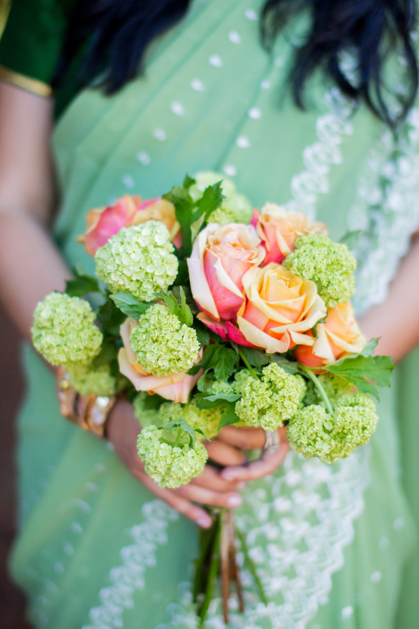 Flowers & Decor, Real Weddings, Wedding Style, green, Modern Real Weddings, Summer Weddings, West Coast Real Weddings, Summer Real Weddings, Modern Weddings, Roses, Peach, Colorful, Bouquets, Vibrant, Indian wedding, Jewish wedding, West Coast Weddings, Multicultural Weddings, Indian Real Wedding, Jewish Real Wedding