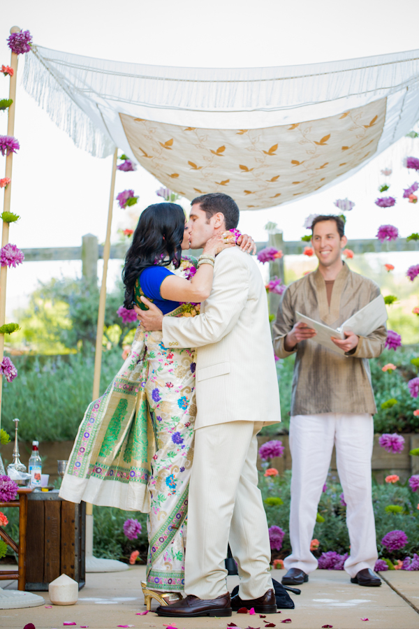 Real Weddings, Wedding Style, Ceremony Decor, Modern Real Weddings, Summer Weddings, West Coast Real Weddings, Summer Real Weddings, Modern Weddings, Colorful, Chuppah, Vibrant, Indian wedding, Jewish wedding, Ceremony décor, West Coast Weddings, Multicultural Real Weddings, Multicultural Weddings, Indian Real Wedding, Jewish Real Wedding