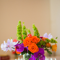 Flowers & Decor, Real Weddings, Wedding Style, orange, purple, Centerpieces, Modern Real Weddings, Summer Weddings, West Coast Real Weddings, Summer Real Weddings, Modern Weddings, Summer Wedding Flowers & Decor, Orchids, Colorful, Vibrant, Indian wedding, West Coast Weddings, Multicultural Real Weddings, Indian Real Wedding