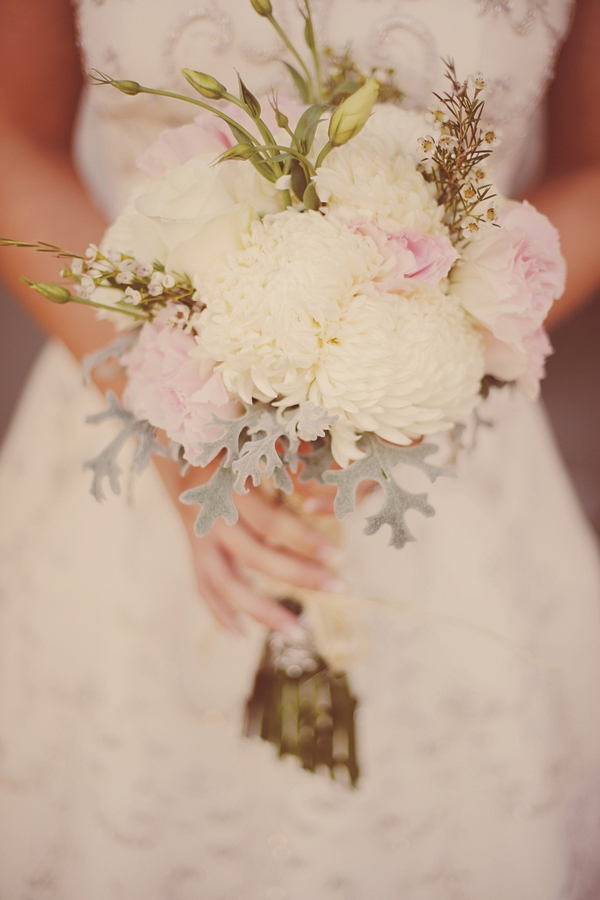 Flowers & Decor, Real Weddings, Wedding Style, white, pink, Bride Bouquets, Fall Weddings, Rustic Real Weddings, Southern Real Weddings, Fall Real Weddings, Vintage Real Weddings, Rustic Weddings, Vintage Weddings, Rustic Wedding Flowers & Decor, Mums, Southern weddings