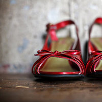 red, Southern Real Weddings, wedding shoes
