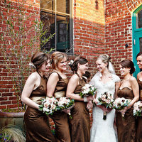 Bridesmaids Dresses, brown, Southern Real Weddings