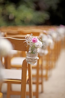 Flowers & Decor, Real Weddings, Wedding Style, Modern Real Weddings, Summer Weddings, West Coast Real Weddings, City Real Weddings, Summer Real Weddings, City Weddings, Modern Weddings, Garden Wedding Flowers & Decor, Mason jars