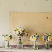 Flowers & Decor, Real Weddings, Wedding Style, yellow, Bridesmaid Bouquets, Rustic Real Weddings, Summer Weddings, West Coast Real Weddings, Summer Real Weddings, Rustic Weddings, Rustic Wedding Flowers & Decor, Summer Wedding Flowers & Decor