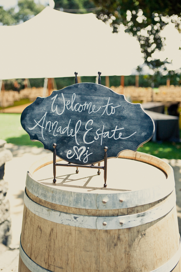 Flowers & Decor, Real Weddings, Wedding Style, Summer Weddings, West Coast Real Weddings, Summer Real Weddings, Summer Wedding Flowers & Decor, Wedding signs, Chalkboard