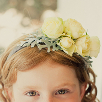 Beauty, Real Weddings, Wedding Style, yellow, Headbands, Summer Weddings, West Coast Real Weddings, Summer Real Weddings, Kids, hair flowers