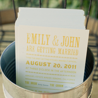 Stationery, Real Weddings, Wedding Style, yellow, Ceremony Programs, Rustic Real Weddings, Summer Weddings, West Coast Real Weddings, Summer Real Weddings, Rustic Weddings