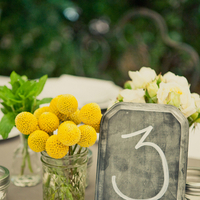 Stationery, Real Weddings, Wedding Style, yellow, Table Numbers, Summer Weddings, West Coast Real Weddings, Summer Real Weddings, Chalkboard