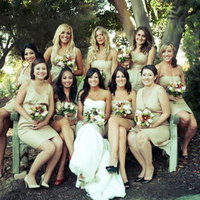 Bridesmaids Dresses, Fashion, Real Weddings, Wedding Style, Spring Weddings, West Coast Real Weddings, Garden Real Weddings, Spring Real Weddings, Garden Weddings, Tan