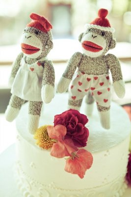 Cakes, Real Weddings, Wedding Style, red, Cake Toppers, Summer Weddings, Summer Real Weddings, West Coast Weddings
