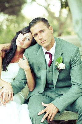 Fashion, Real Weddings, Wedding Style, green, Men's Formal Wear, Spring Weddings, West Coast Real Weddings, Garden Real Weddings, Spring Real Weddings, Garden Weddings