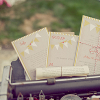 Stationery, Real Weddings, Invitations, Ceremony Programs, West Coast Real Weddings