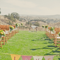 Flowers & Decor, Aisle Decor, West Coast Real Weddings, Bunting