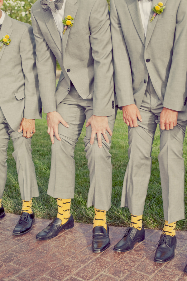 yellow, Groomsmen, West Coast Real Weddings