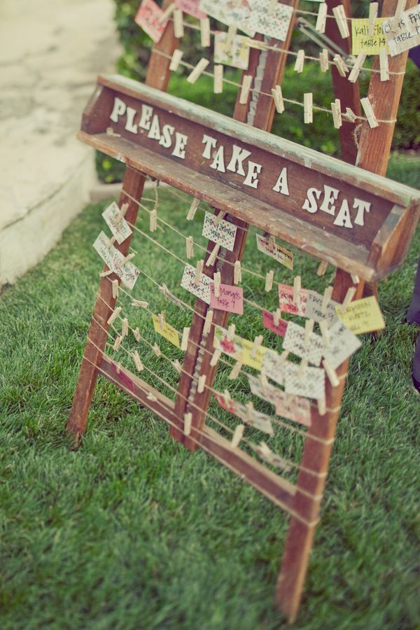 West Coast Real Weddings, Seating cards