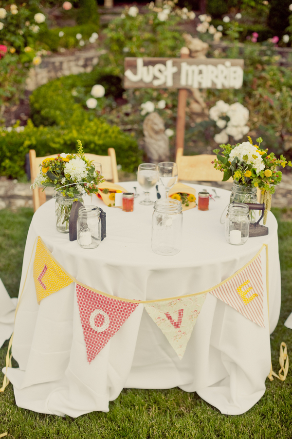 West Coast Real Weddings, sweetheart tables
