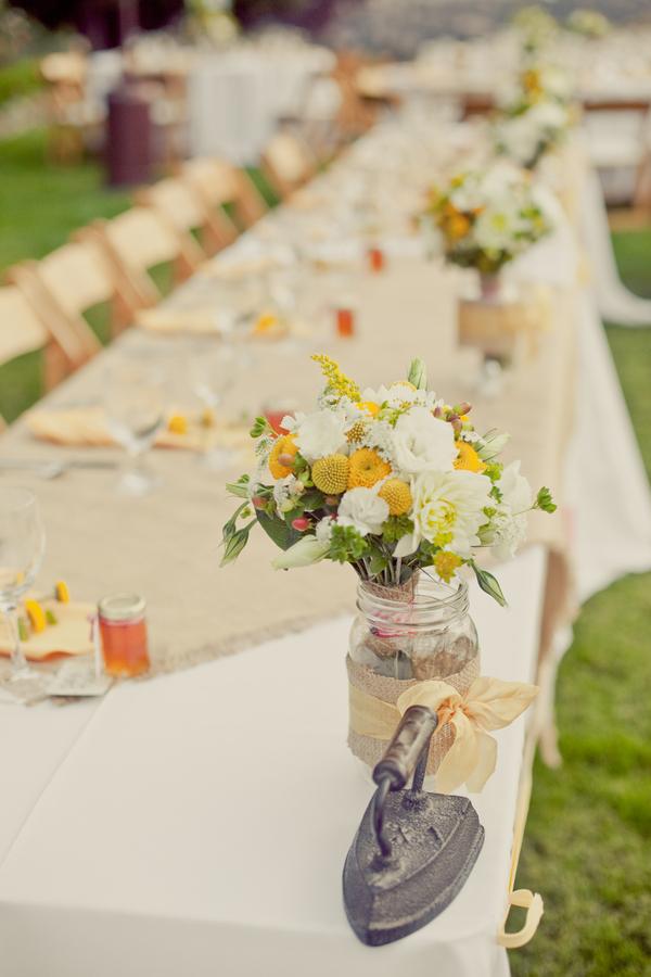 West Coast Real Weddings, Table decor