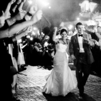 West Coast Real Weddings, Sparklers, Sendoff