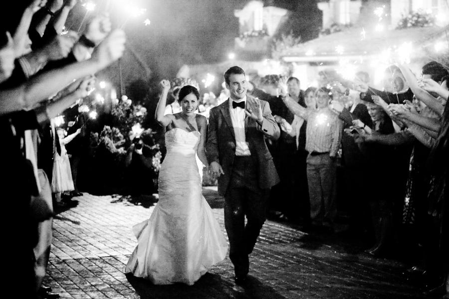 West Coast Real Weddings, Sparklers, Sendoff